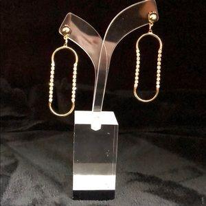 Jewelry - Gold & Rhinestone Earrings